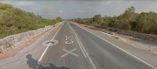 Imagen de la carretera en la que se ha producido el atropello.