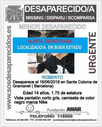 El joven permanecía desaparecido desde el pasado sábado 16 de junio.