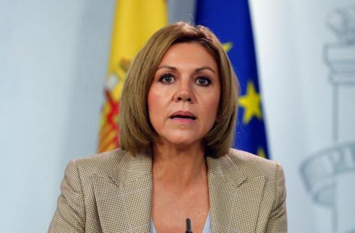 La exministra de Defensa, María Dolores de Cospedal.