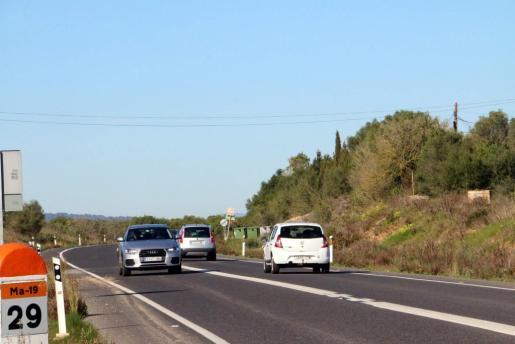 Imagen de archivo de la carretera Llucamajor-Campos.