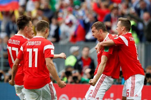 El nacimiento coincidió con el quinto gol anotado en la portería de los saudíes, en el partido inaugural de la Copa del Mundo.