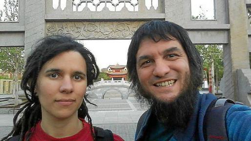 Bibiloni y Barceló, en su estancia en China, en el rodaje de 'Asura'.