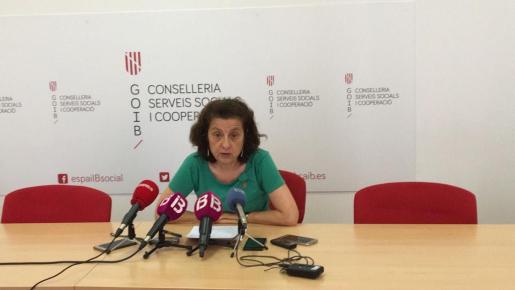 Fina Santiago, durante la rueda de prensa que ha ofrecido este miércoles.