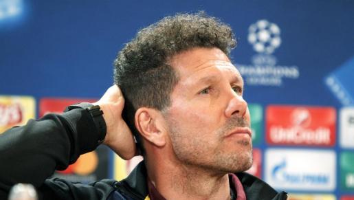 El entrenador del Atlético de Madrid, el argentino Diego Simeone.