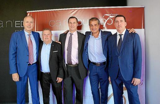 Biel Martí; Biel Cerdá, John Moloney y Toni Aloy, socios propietarios; y Pedro Llabrés.