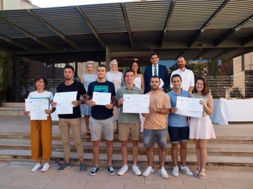 Los ganadores de el IX Premio de Periodismo Alberta Giménez.