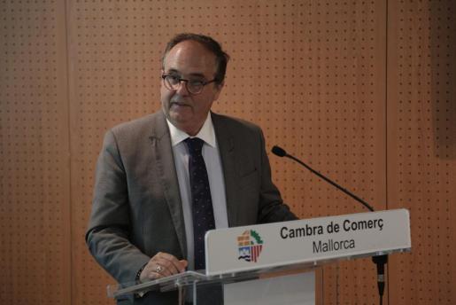 Antoni Mercant durante su discurso.