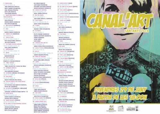 La tercera edición de Canal'Art se celebra el 29 de junio en Santanyí.