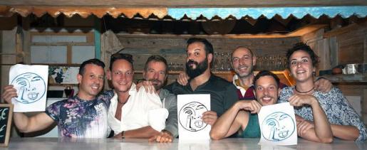 Los integrantes de Sa Pedrera Andreu Vidal, Jorge González, Claus Hain, Jeroni Obrador, David Jabaloyas, Pompeyo Viciana y Ana Domínguez.
