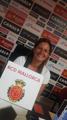 Rosa Planas, en septiembre de 2014, cuando fue elegida presidenta de la Federació de Penyes Mallorquinistes.