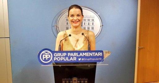 La popular Marga Prohens durante una intervención ante la prensa.