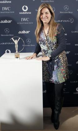 La extenista Arantxa Sánchez Vicario, durante el acto en el que se dieron a conocer los nominados a los Premios Laureus 2010.