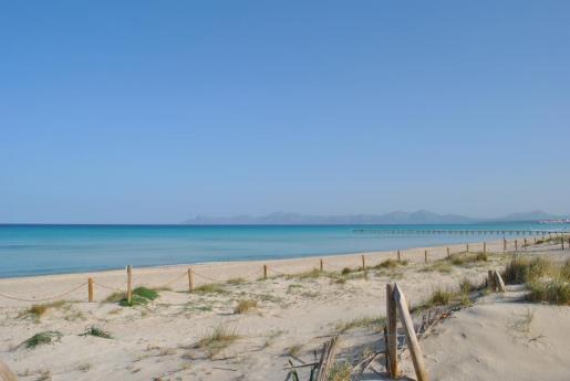 La playa de Muro es una de las mejores para ir con niños.