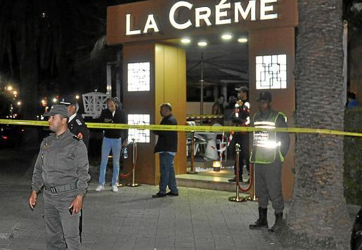 La cafetería La Créme, donde dos asaltantes asesinaron a tiros a un estudiante.
