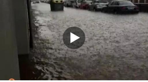 Espectaculares imágenes de la tromba de agua caída en Ourense.