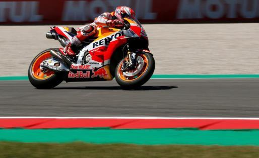 El español Marc Márquez, durante los entrenamientos del Gran Premio de Holanda de MotoGP.