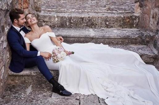Imagen que han difundido David Bisbal y Rosanna Zanetti de su reciente boda.