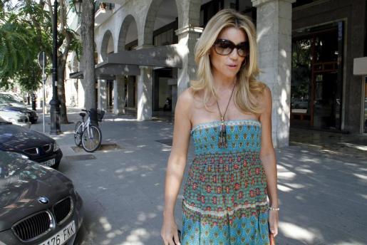 Patricia Rato, durante sus vacaciones en Mallorca.