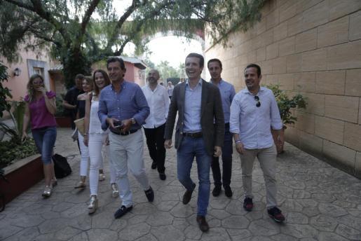 Casado junto a Company en su reciente visita a Palma.