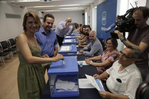 Marga Durán y Toni Fuster han sido dos de los cargos más madrugadores en la sede de Palma.