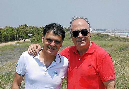 Vasko Vassilev y el director Vicenç Balaguer, el fin de semana pasado en Valencia.