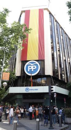 Sede del PP en Madrid.