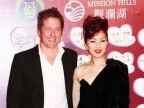 Tinglan Hong y Hugh Grant, en una imagen de archivo.