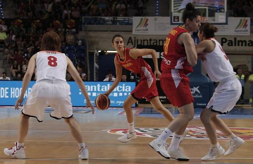 Momento del segundo partido amistoso de España contra Japón.