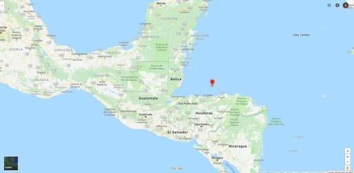 La isla de Roatán, donde se registró el fatal accidente, está situada en el Caribe hondureño.