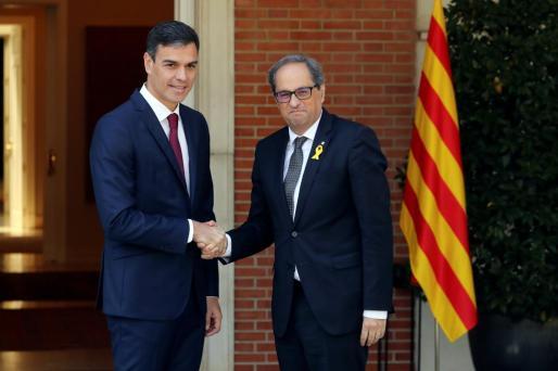 El presidente del gobierno Pedro Sánchez y el president de la Generalitat Quim Torra.