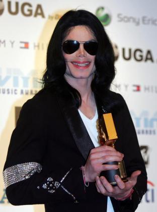 Michael Jackson, cantante de Pop norteamericano en Tokio, Japón