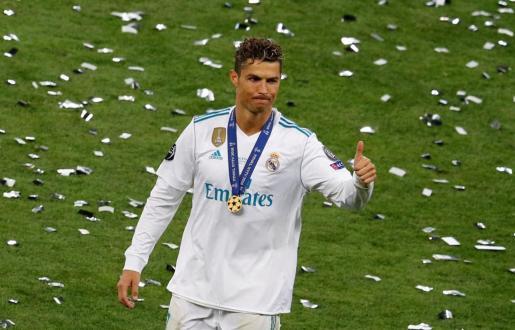 Cristiano Ronaldo, con la camiseta del Real Madrid.