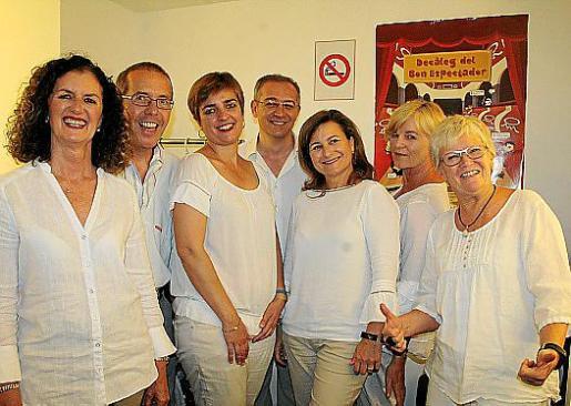 Del Cor Pride: María José Ferrer, Patrick Vleugels, Mar Ferre, José Antonio Tur, Asun Marqués, Chris Nolte y Hilde Meeuwis.