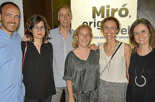 Alejandro Ysasi, Aina Ebia, Jaime Ensenyat, Chiqui Artigues, Martina Camps y Patricia Juncosa.