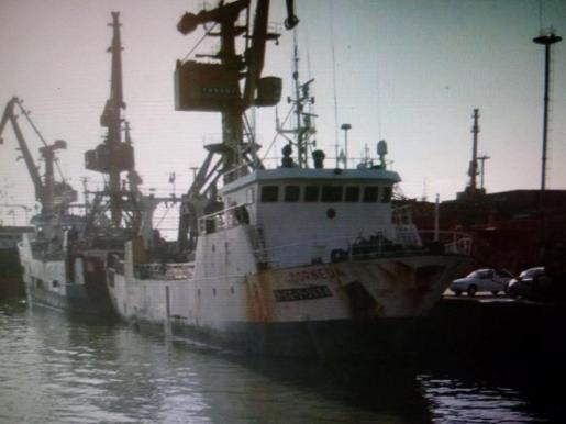 "Vista general del buque pesquero español ""Dornera""."