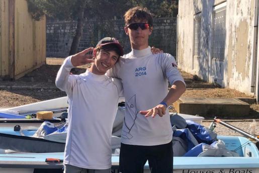Pablo Ruiz y Miguel Martínez-Fortún, al acabar la competición. A. MASSANET