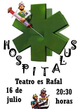 El grupo de teatro del Casal de Barri es Rafal representa 'Hospitalus' en las fiestas del barrio.
