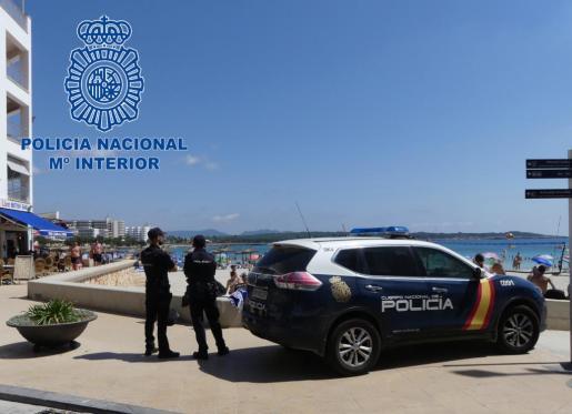 Detenido por parte de la Policía Nacional el autor de un delito de abuso sexuales en la playa S'illot.