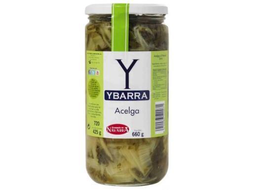 El producto implicado es Acelgas, marca Ybarra, envasadas en frasco de cristal con un peso neto de 660 gramos.