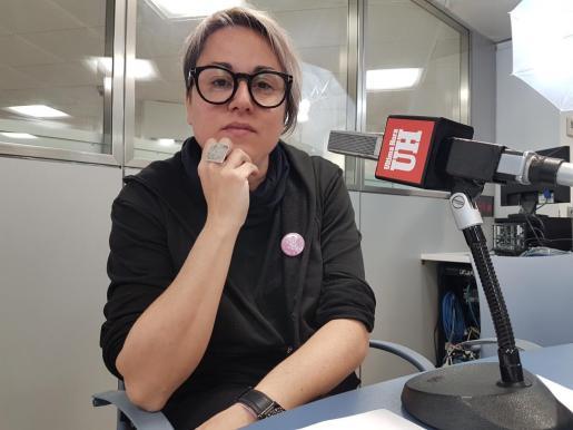 Sonia Vivas en los estudios de Ultima Hora.
