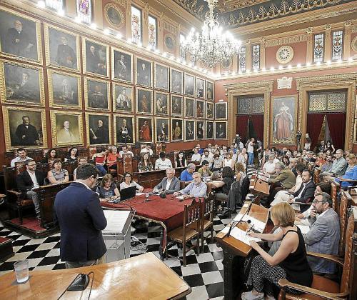 Composición del pleno del Ajuntament de Palma.