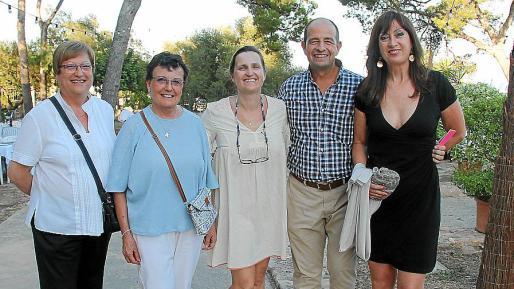 Antonia García, Marga Requejo, Guitín Timoner, Marc Ponseti y Paula Fernández.