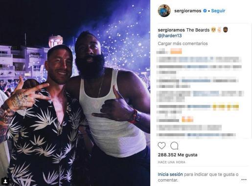 Sergio Ramos y James Harden, de fiesta en Ibiza.
