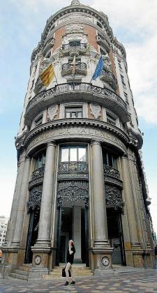 Imagen de la sede central del Banco de Valencia, en la ciudad del Turia.