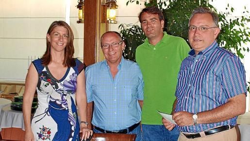 Tania Knuchel, Nicolás Nadal, Bartolomé Hernández y Josep Lluís Vidal.