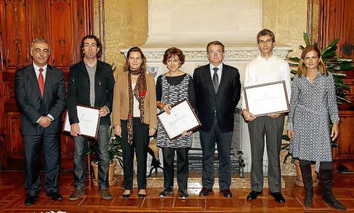Miquel Barceló, Pere Joan Martorell, María Salom, Isabel Olesti, Joan Rotger, Jordi Ortíz y Gari Durán.