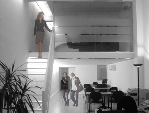 Interior de una de sus oficinas.