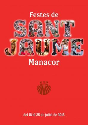 Cartel de las Festes de Sant Jaume de Manacor 2018.