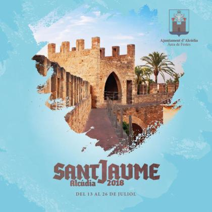 Cartel de las fiestas de Sant Jaume en Alcúdia.