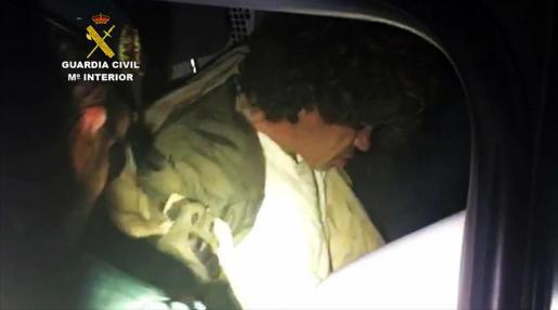 Luciano José Simón Gómez tras su arresto.